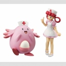 Pokemon G.E.M. Statue -Nurse Joy & Chansey-