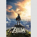 The Legend of Zelda Breath of the Wild Poster Sunset