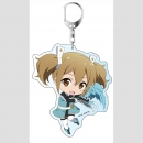 Sword Art Online the Movie -Ordinal Scale-: Big Keychain Silica SD Ver.