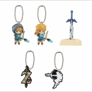 The Legend of Zelda Breath of the Wild Gashapon Mascot Anhänger komplette Serie (5 Stk.)
