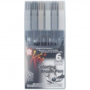 Koi Coloring Pinselstift Gray Set 6