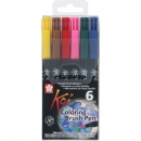 Koi Coloring Brush Pen Set 6