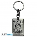 ABYSTYLE KEYCHAIN Wanted Luffy (One Piece)