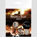Attack on Titan Ansteck-Buttons 6er-Pack Characters