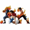 One Piece Super Styling Attack Flame Brothers 1set