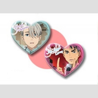 Yuri!!! on Ice Jean-Jacques Leroy & Victor  Nikiforov Sweet Time Button-Set