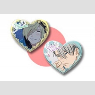 Yuri!!! on Ice Victor Nikiforov & Yuri Plisetsky Sweet Time Button-Set