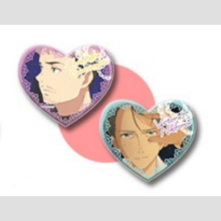 Yuri!!! on Ice Christophe Giacometti & Victor Nikiforov Sweet Time Button-Set