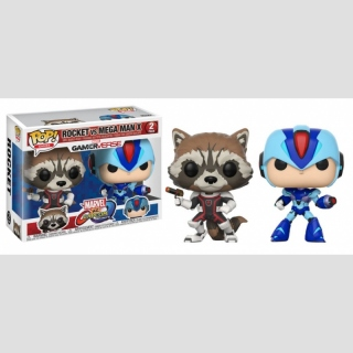FUNKO POP! GAMES Rocket vs. Mega Man X 2er Pack (Marvel vs. Capcom Infinite)