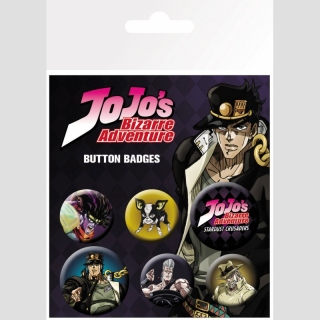 Jojos Bizarre Adventure Buttons 6er-Pack