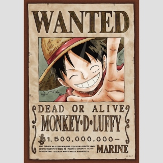 Puzzle One Piece Wanted -Monkey D. Luffy-