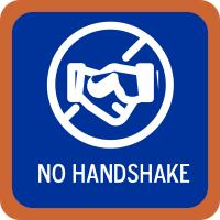 Kein Händeschütteln usw.